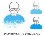 bald man icon with face in... | Shutterstock .eps vector #1198203712