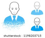 bald clerk icon with face in... | Shutterstock .eps vector #1198203715