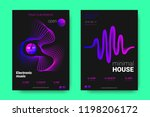 poster of electronic music... | Shutterstock .eps vector #1198206172