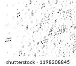 musical notes  treble clef ... | Shutterstock .eps vector #1198208845