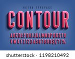 condensed 3d display font... | Shutterstock .eps vector #1198210492