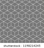 hexagon seamless geometric... | Shutterstock .eps vector #1198214245