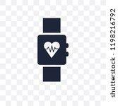 fitness tracker transparent... | Shutterstock .eps vector #1198216792