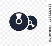 cd transparent icon. cd symbol... | Shutterstock .eps vector #1198223698
