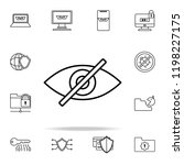 off eye icon. virus antivirus...