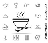 a bowl of soup icon. food icons ... | Shutterstock .eps vector #1198228615