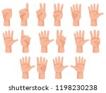 human hand and number gesture... | Shutterstock .eps vector #1198230238