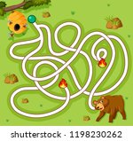 bear finding honey game... | Shutterstock .eps vector #1198230262
