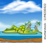 beautiful nature island... | Shutterstock .eps vector #1198230322
