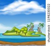 beautiful nature island... | Shutterstock .eps vector #1198230322