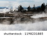 west thumb geyser basin in...   Shutterstock . vector #1198231885