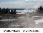 west thumb geyser basin in...   Shutterstock . vector #1198231888