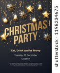 christmas party poster template ... | Shutterstock .eps vector #1198234675
