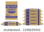 cement bag front and side view... | Shutterstock .eps vector #1198235542