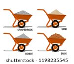 set of construction material on ... | Shutterstock .eps vector #1198235545