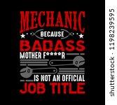 mechanic is not an official job ... | Shutterstock .eps vector #1198239595