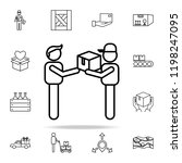 gift delivery outline icon.... | Shutterstock .eps vector #1198247095