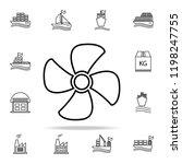 propeller outline icon. cargo... | Shutterstock .eps vector #1198247755