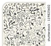 hand drawn vector arrow... | Shutterstock .eps vector #119825602