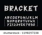 modern vector font and the... | Shutterstock .eps vector #1198257238