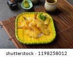 ebi tempura shrimp with... | Shutterstock . vector #1198258012