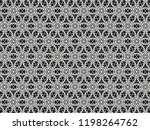 ornament with elements of black ... | Shutterstock . vector #1198264762