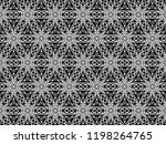 ornament with elements of black ... | Shutterstock . vector #1198264765