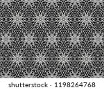 ornament with elements of black ... | Shutterstock . vector #1198264768