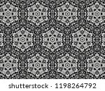 ornament with elements of black ... | Shutterstock . vector #1198264792