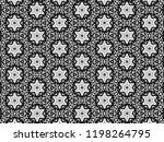 ornament with elements of black ... | Shutterstock . vector #1198264795