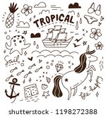 cute doodle with mix of various ... | Shutterstock .eps vector #1198272388