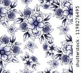 flower print in bright colors.... | Shutterstock . vector #1198276495