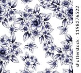 flower print in bright colors.... | Shutterstock . vector #1198276522