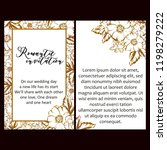 romantic wedding invitation... | Shutterstock .eps vector #1198279222