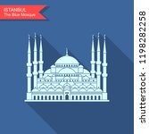 sultan ahmed mosque  istanbul ... | Shutterstock .eps vector #1198282258