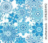 mandala. ethnic motifs vector... | Shutterstock .eps vector #1198285492