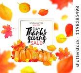 thanksgiving sale banner.... | Shutterstock .eps vector #1198285498