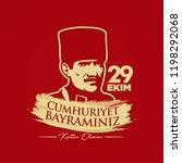 republic of turkey   october 29 ... | Shutterstock .eps vector #1198292068