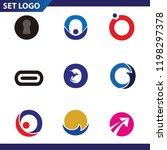 set of letter logo design... | Shutterstock .eps vector #1198297378