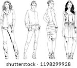 vector drawings on the theme of ... | Shutterstock .eps vector #1198299928