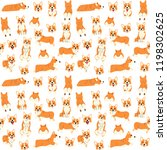 corgi pattern dog poses dog...   Shutterstock .eps vector #1198302625