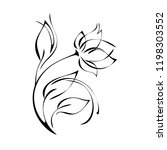 stylized rose flower with... | Shutterstock .eps vector #1198303552