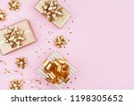 fashion gifts or presents boxes ... | Shutterstock . vector #1198305652