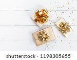 heap of gift or present boxes... | Shutterstock . vector #1198305655