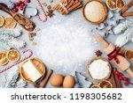 ingredients for cooking... | Shutterstock . vector #1198305682