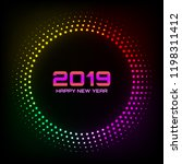 new year 2019 card background.... | Shutterstock . vector #1198311412