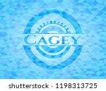 Cagey Sky Blue Mosaic Emblem