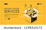 moving house services vector... | Shutterstock .eps vector #1198314172