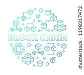 block chain vector round...   Shutterstock .eps vector #1198317472