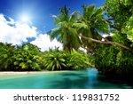 Lake And Palms  Mahe Island ...